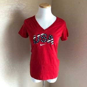 Nike Dri-fit USA red tee shirt small 4th of July